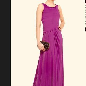 BNWT Halston Heritage Satin Floor Length Gown 4